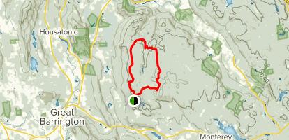 Mt. Wilcox and Beartown Mountain Trail Loop Map