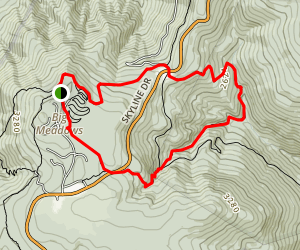 Dark Hollow via Appalachian Trail and Story of the Forest Trail Map
