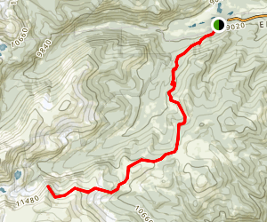 Mammoth Gulch to James Peak Trailhead Map