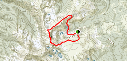 James Peak North East Ridge via Little Echo Lake Map