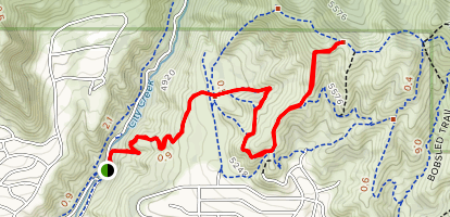 City Creek to Valley View Ridge Trail Map