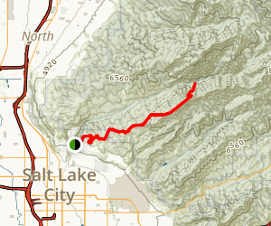 City Creek to Little Black Mountain Map