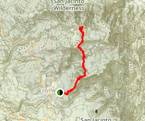 San Jacinto Peak Via South Ridge Trail Map