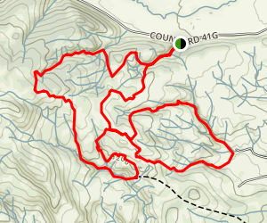 Penitente Canyon Map