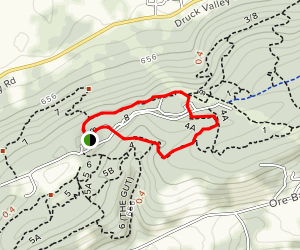 Trail 8 to Trail 4 Loop Map