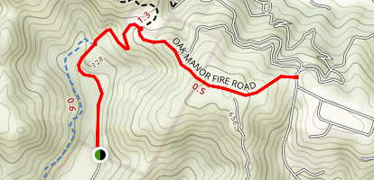 Glen Fire Road and Oak Manor Fire Road Map