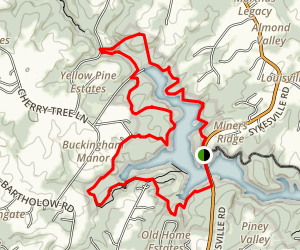 Liberty Reservoir Morgan Run Loop Map