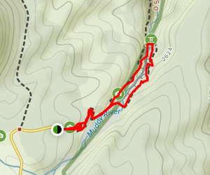 Lava Canyon Suspension Bridge Map