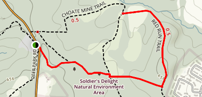 Red Run Trail Map