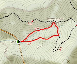 Rattlesnake Lodge Short Loop Map