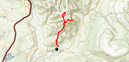 The Calf and Cautley Spout Map
