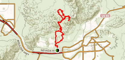 Bootleg Canyon MTB Map