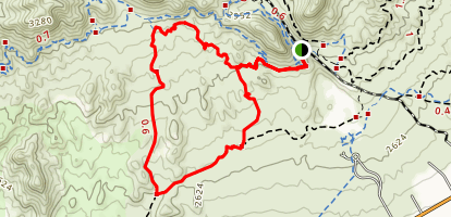 Par None and Pow Loop Trail Map