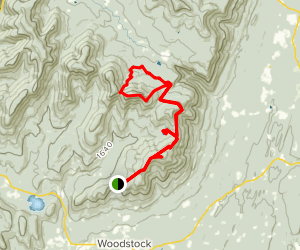 Indian Head Mountain and Echo Lake via Overlook Map