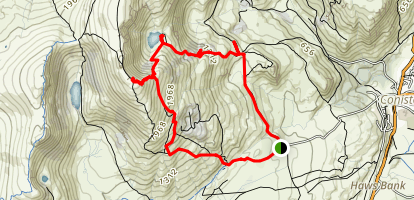 Coniston Old Man Via Boo Tarn Map