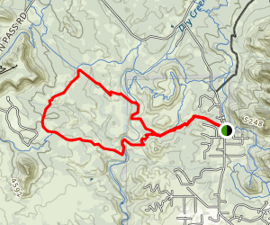 Two Fences to Rupp to Cockscomb to AZ Cypress Trail Loop Map
