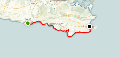 Lulworth Cove to Swanage Map