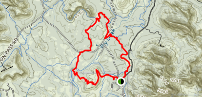 Anaconda and Mescal Loop Trail Map
