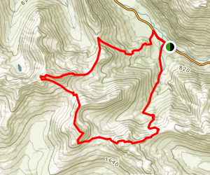 The Saddle via Forcan Ridge Map