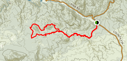 Sandy Wash Downhill via Miller Gulch and Homestead Trails Map