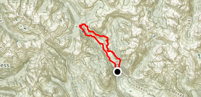 401 Trail Loop from Copper Creek Map