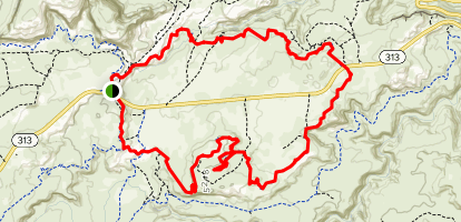 Moab Rocky Top Loop Map