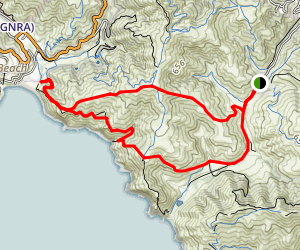Tennesse Valley to Muir Beach and Fox Trail Map
