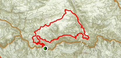 Centennial Cone MTB Trail Map