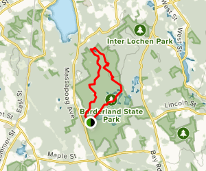 Bay Circuit Trail to Granite Hills Trail Loop Map