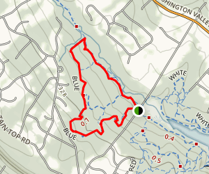 Washington Valley Blue Trail Map