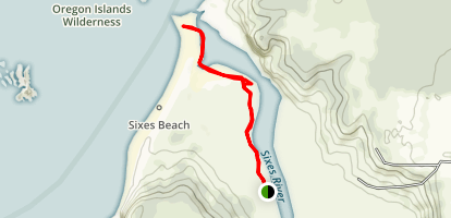 Mouth of Sixes River Trail Map