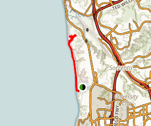 Torrey Pines via Gliderport and Black's Beach Trails Map