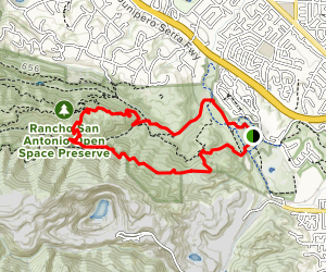 PG&E, Wildcat, High Meadow and Lower Meadow Trail Loop Map