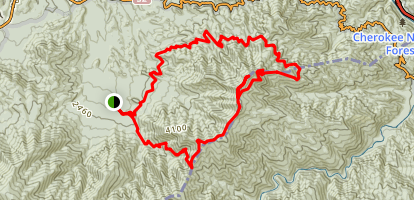 Mount Cammerer Loop - Low Gap and Lower Cammerer Map
