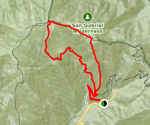 Mount Baldy via Register Ridge Map