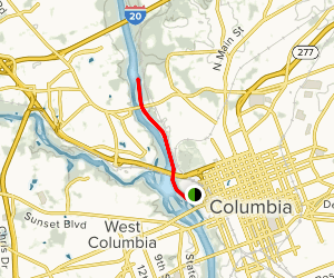 Columbia Canal Path  Map