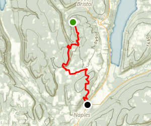 Bristol Hills Trail 1 Through Hike Map