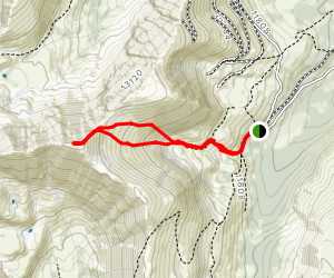 Mount Edwards from Waldorf Mine Map