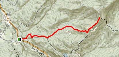 Roaring Brook Trail to Giant Mountain Map