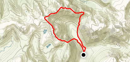 Black Crag Loop Map