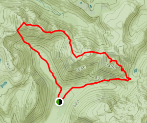 Great Gable, Kirk Fell and Pillar Map