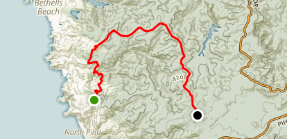 Mid Waitekeres Traverse Map