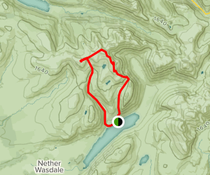 Haycock and Red Pike Loop Map