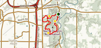 North Chagrin Circumnavigation Map