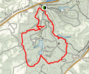 Wildcat to Montgomery Bell and Creech Hollow Trails Map