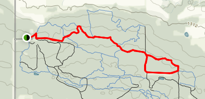 A Line, TP Two, P One, and Merglan Trail Map