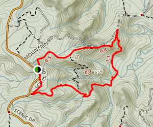 Old Coach Road and Fairy Falls Track Map