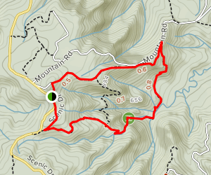 Old Coach Road and Fairy Falls Track [CLOSED] Map