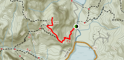 Twin Peaks Track to Goat Hill Map