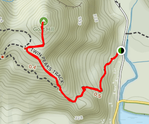 Twin Peaks Track to Goat Hill [CLOSED] Map